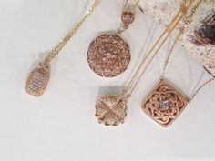 More beautiful necklaces in warm metals