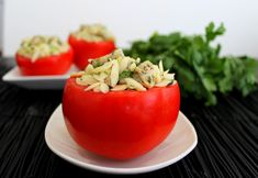 Stuffed Tomatoes w/Herbed Chicken Orzo Salad