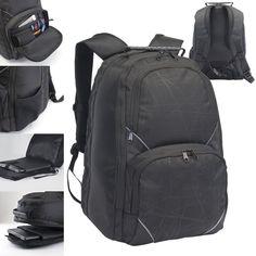 "Brand New TSA Friendly Marseilles 15"" Black Laptop / MacBook Pro Backpack #UnbrandedGeneric"