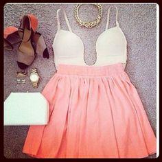 white & pink dress   party dress
