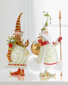 Im not a chachki or christmassy kind of person but these are BEAUTIFUL Patience Brewster Mrs. Santa and Santa Figures Whimsical Christmas, Christmas Art, Beautiful Christmas, All Things Christmas, Christmas Holidays, Christmas Decorations, Christmas Ornaments, Jingle All The Way, Christmas Inspiration