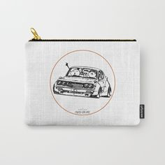 Crazy Car Art 0006 Carry-All Pouch by mame_ozizo Car Illustration, Weird Cars, Kustom Kulture, Old School, Zip Around Wallet, Coin Purse, Pouch, Japanese, Drawings