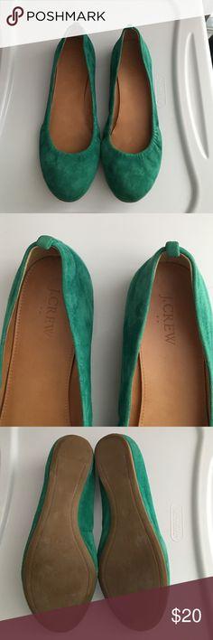 JCrew flats shoe size 7.5 JCrew green flats shoe size 7.5 J. Crew Shoes Flats & Loafers