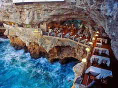 <p>In the town of Polignano a Mare in southern Italy (province of Bari, Apulia), lies a most unique dining experience at the Grotta Palazzese. Open only during the summer months, a restaurant is created inside a vaulted limestone cave, looking outwards toward the sea. The restaurant is part of the Grotta Palazzese hotel located above. […]</p>