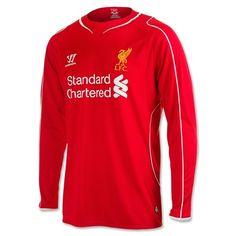 WarriorLiverpool Home Shirt Long Sleeve Liverpool Fc Shirt, Liverpool Home, Football Fashion, Football Kits, Online Sales, Red Shirt, Sportswear, Long Sleeve Shirts, Sweatshirts