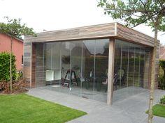 Project 16 #glazenschuifwanden #architecture #glazenafsluiting #SlidingGlass #poolhouse
