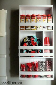 DIY Pantry Organizer Shelving Unit { lilluna.com } #pantry