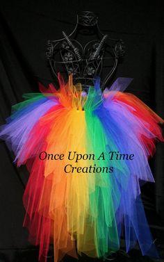 Primary Rainbow Bright Bustle TuTu  12M 2T by OnceUponATimeTuTus, $49.99