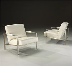 Contemporary Chair & Ottoman from Thayer Coggin