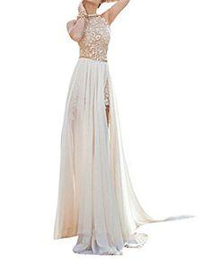 ZongSen Donna Vestito Slim Fit Lungo Chiffon Senza Schienale Per Matrimonio Abito Sposa Bianco S, http://www.amazon.it/dp/B01K6WNQVQ/ref=cm_sw_r_pi_awdl_x_Lq.Xxb83RTT58