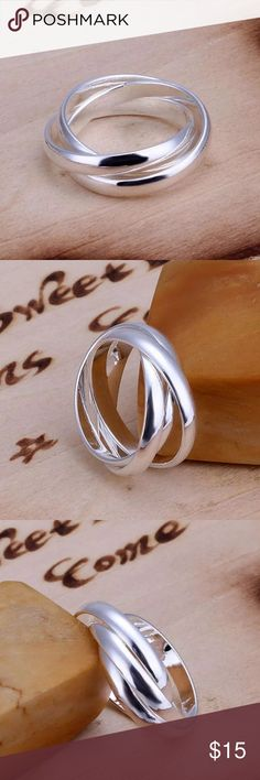 3 pieces silver ring Brand new. Jewelry Rings