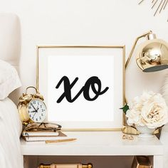 Free printable. Bold, graphic, simple. Would be great on a gallery wall!