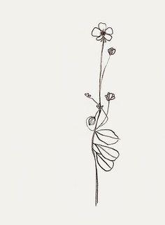 Resultado de imagem para flower simple tattoos