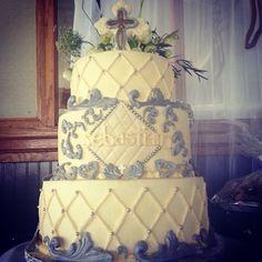 Vintage theme Baptism Cake