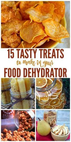 15 Tasty Treats to Make in Your Food Dehydrator Do you have a food dehydrator? Did you know you can make more than jerky with it? Here are some great ideas and recipes to try in you food dehydrator that will give you some great snack options Canning Recipes, Raw Food Recipes, Gourmet Recipes, Mexican Food Recipes, Healthy Recipes, Dehydrated Food Recipes, Freezer Recipes, Drink Recipes, Canning 101