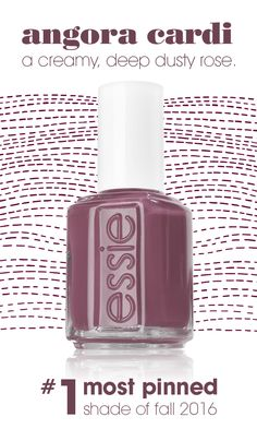 #1 most pinned shade for fall 2016 on Pinterest! brush on this lush, deep dusty rose nail polish and you'll never want to take it off. essie angora cardi is the perfect shade for everyone and will pair with every fall outfit!
