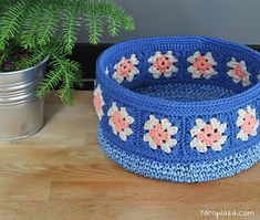 Crochet Basket ~ free pattern ᛡ