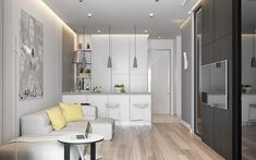 A house tour of 5 apartment designs, all expertly designed within small spaces. Condo Interior Design, Small Apartment Interior, Condo Design, Home Interior, Interior Architecture, House Design, Small Apartments, Small Spaces, Appartement Design