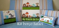 Kit berço SAFARI Enxoval para bebê, em vários temas e cores, acabamento diferenciado.