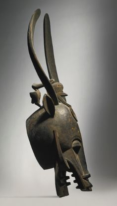 Senufo Helmet Mask, Côte d'Ivoire Kponyugo Height: 35 3/8 in (89.9 cm)
