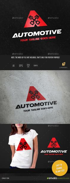 Automotive - Logo Design Template Vector #logotype Download it here: http://graphicriver.net/item/automotive/10497775?s_rank=717?ref=nexion