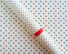 "Gift Wrap // Sails Print // Each roll 26""X36"" // Red and Blue // Nautical Wrapping Paper"