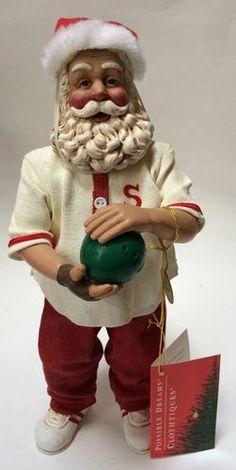 12f26e343e Clothtique Possible Dreams Santa Claus Strikes Again Bowler Bowling  Figurine Saint Nicholas
