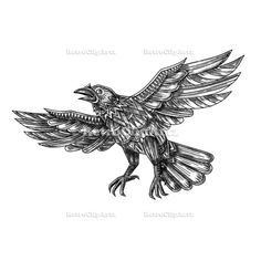 Raven Flying Up Geometric Mandala Tattoo Vector Stock Illustration Tattoo style illustration of a raven, blackbird or crow flying up made out of geometric shape or mandala on isolated background. Raven Flying, Geometric Mandala Tattoo, Geometric Shapes, Making Out, Retro Fashion, Moose Art, Retro Illustrations, Blackbird, Vector Stock