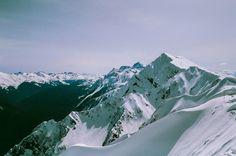 Роза Хутор. Апрель 2016. Fujifilm Superia X-tra 400. Canon Elan7 + Canon 24-105mm f/4. Snow Fall