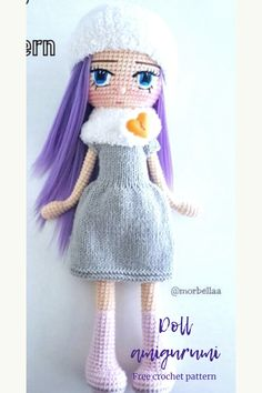 Everything about Amigurumi knitting toys is waiting for you on this site. In our article we will show you 50 amigurumi crochet free patterns. Doll Amigurumi Free Pattern, Crochet Dolls Free Patterns, Crochet Doll Pattern, Crochet Bunny, Amigurumi Doll, Free Crochet, Animal Knitting Patterns, Crochet Disney, How To Start Knitting