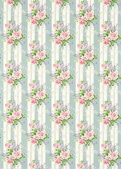 Cecile Rose Fabric – Duck Egg/Rose – Sanderson Vintage Prints Fabrics 2 Collection – Print and pattern – Bilder Vintage Floral Fabric, Vintage Fabrics, Vintage Paper, Vintage Flowers, Vintage Prints, Flower Wallpaper, Pattern Wallpaper, Wallpaper Direct, Scrapbooking
