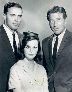 """The FBI"" drama series (1965-1974)  Stephan Brooks, Lynn Loring and Efram Zimbalist,Jr."