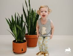 Cute Toddler Tank-top with pineapple and great fitting leggings.