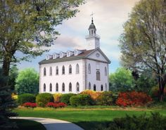 Kirtland Ohio Temple by Brent Borup Lds Temple Pictures, Lds Pictures, Church Pictures, Mormon Temples, Lds Temples, Kirtland Temple, Community Of Christ, Ancient Greek Architecture, Gothic Architecture