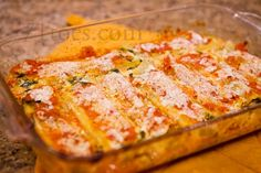 Spinach Manicotti - made this and it is really good.  Even more than one child ate it.