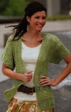 I'm making this now...Looks GREAT!!!!! My new project. Spider Web Lace Cardigan. Pattern by Leisure Arts, yarn by Caron