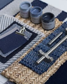 Blue Hues – Part 1 | Roger Oates Blog – Stairs and Stripes Norfolk House, Green And Grey, Blue And White, Blue Palette, Mood Colors, Striped Rug, White Backdrop, World Of Interiors, Bedroom Green