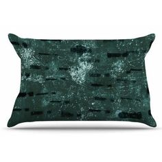East Urban Home Tex by Iris Lehnhardt Pillow Sham Color: Green, Size: Standard