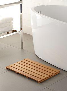 Descente de bain en bambou
