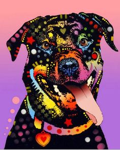 Happy Rottweiler by Dean Russo
