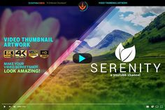 Serenity Youtube Thumbnail Template by SeraphimChris on @creativemarket