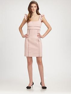 RED Valentino - Ruffle-Sleeve Dress - Saks.com