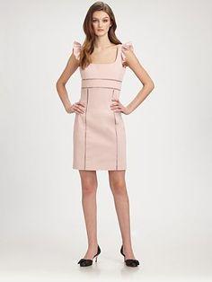 RED Valentino - Ruffle-Sleeve Dress - Saks.com