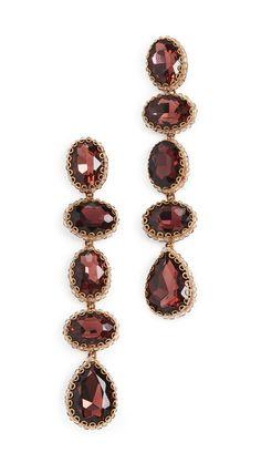 Deepa Gurnani Tyra Earrings In Plum Deepa Gurnani, Central Saint Martins, India Fashion, Personal Stylist, Holiday Dresses, Designer Earrings, Jewelry Sets, Plum, Studs