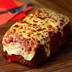 Lasagna Stuffed Meatloaf - sub pork rinds for bread crumbs & zucchini for noodles