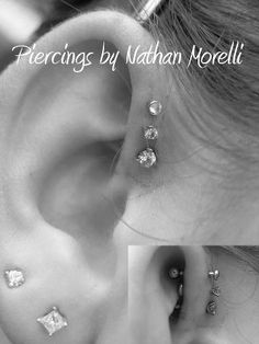 My next piercings..the triple forward helix piercing!!!