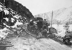 1940 Norway, German soldiers in combat during the invasion