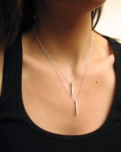 Multi Layered Necklace Sterling Silver by girltuesdayjewelry, $65.00