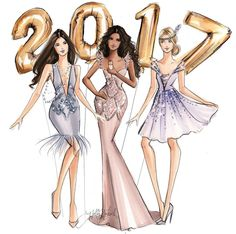 Welcoming #2017! Thank you to all my loyal followers! Wishing you all the best in 2017@hnicholsillustration/ hnillustration.etsy.com| Be Inspirational ❥|Mz. Manerz: Being well dressed is a beautiful form of confidence, happiness & politeness