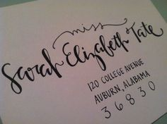 Coolest way to have your wedding invitations addressed!   (And Sarah Tate is AMAZING to work with!)